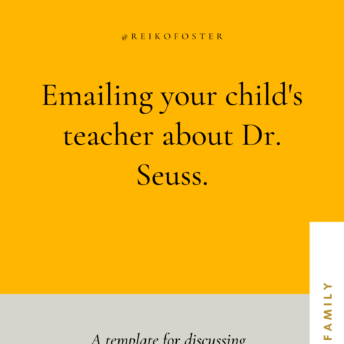 Emailing your child's teacher about Dr.Seuss